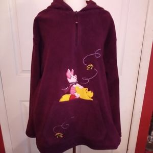 DISNEY POOH pullover hoodie sweatshirt XL
